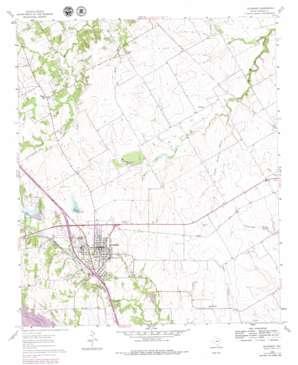 Alvarado topo map