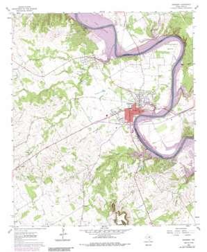 Granbury USGS topographic map 32097d7