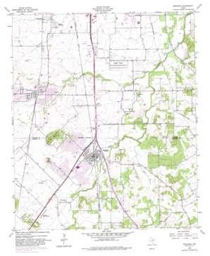 Burleson USGS topographic map 32097e3