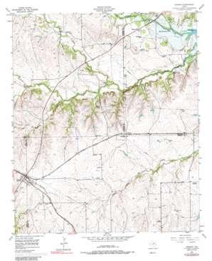 Cresson topo map