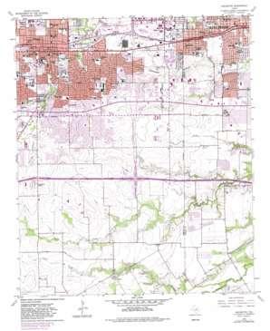 Arlington topo map