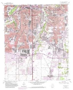 Fort Worth topo map