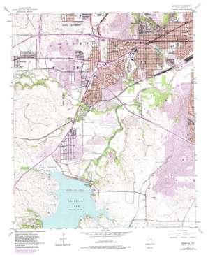Benbrook topo map