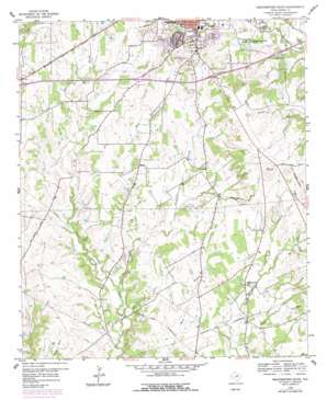 Weatherford South topo map