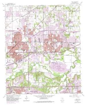 Hurst topo map