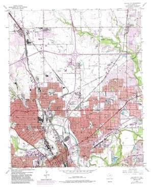 Haltom City topo map