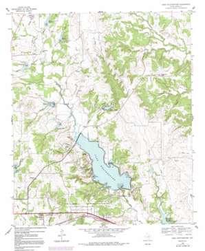Lake Weatherford topo map