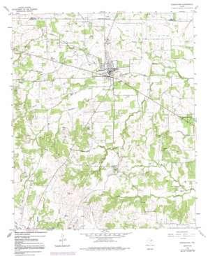 Springtown topo map