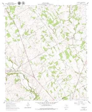 Clairette topo map