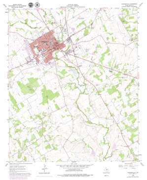 Stephenville topo map