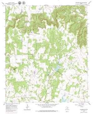 Huckabay Sw topo map