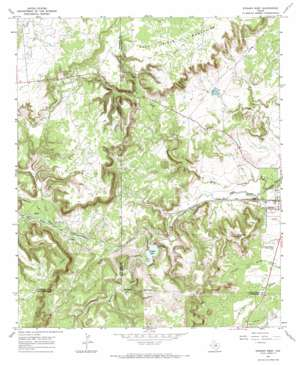 Strawn West topo map