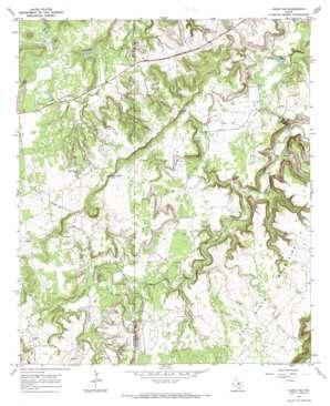 Caddo Ne topo map