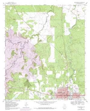 Breckenridge topo map