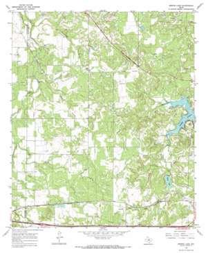 Bernie Lake topo map