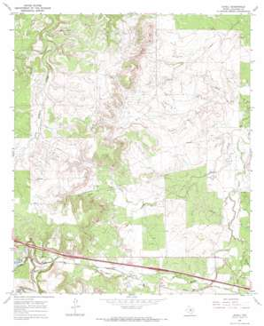 Jayell topo map