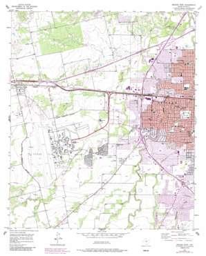 Abilene West topo map