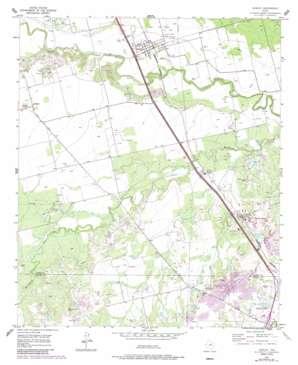 Hawley topo map