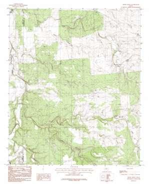 Smokey Draw topo map