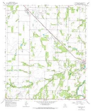 Lueders West topo map