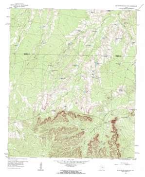 Mcwhorter Mountain topo map
