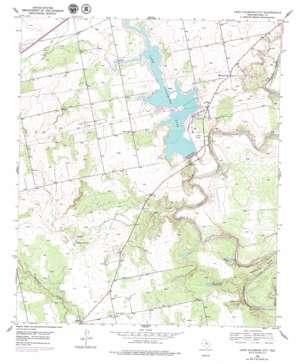 Lake Colorado City topo map