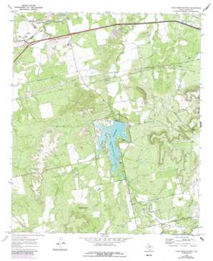 Lake Sweetwater topo map