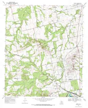 Busby topo map