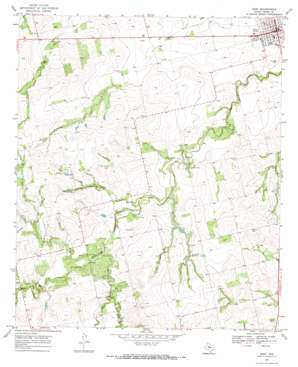 Roby topo map