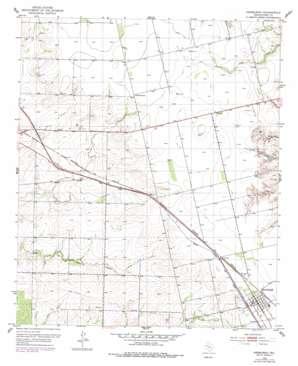 Hermleigh topo map