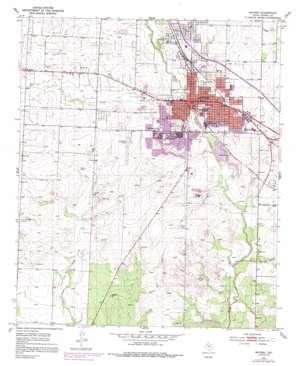 Snyder topo map