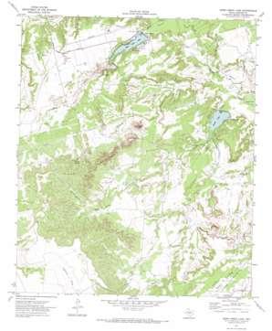 Moss Creek Lake topo map