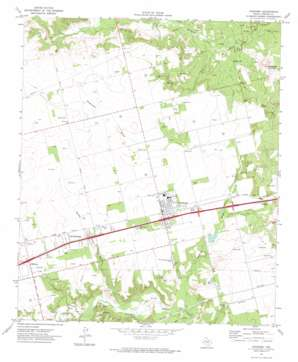 Coahoma topo map