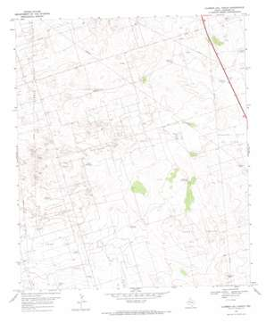 Clabber Hill Ranch topo map