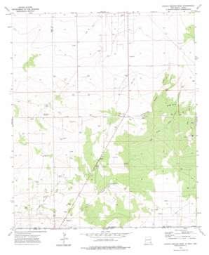 Paduca Breaks West topo map