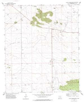 Paduca Breaks Nw topo map
