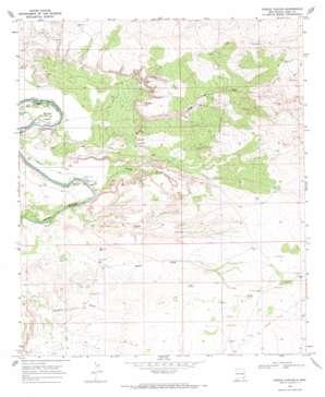 Pierce Canyon topo map