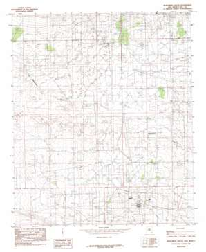 Monument South topo map