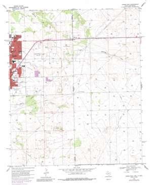 Hobbs East topo map