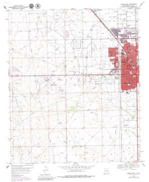 Hobbs West topo map