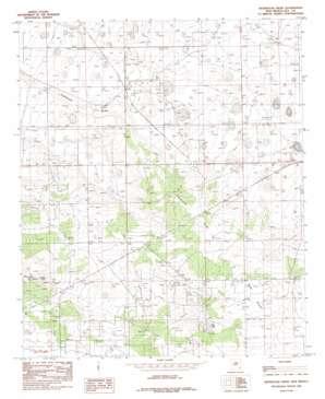 Ironhouse Draw topo map