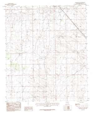 Lovington Se topo map