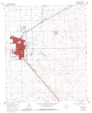 Lovington topo map