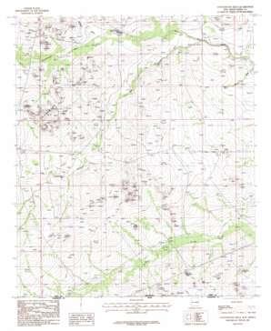 Cottonwood Hills topo map