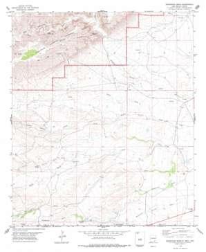 Grapevine Draw topo map