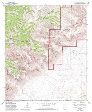 Gunsight Canyon topo map
