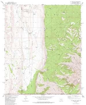 El Paso Gap topo map
