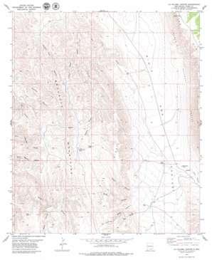 La Paloma Canyon topo map