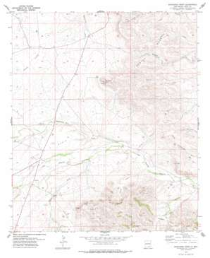 Bandanna Point topo map