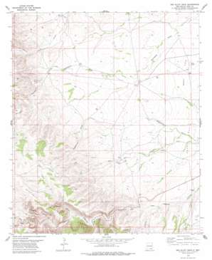 Red Bluff Draw topo map